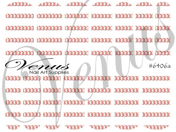 #6406a Chains - Rose Gold A (Clear/White)