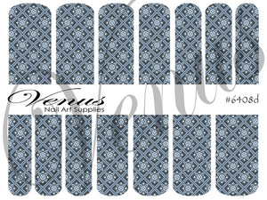 #6408d Blue (Clear/White)
