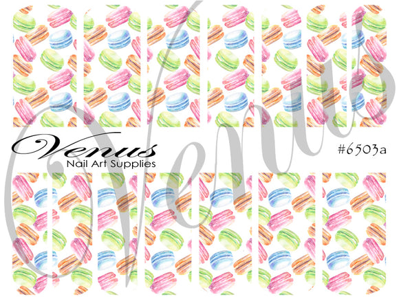 #6503a Kawaii Macaroons (Clear/White)
