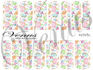 #6503c Kawaii Sweet Treats (Clear/White)