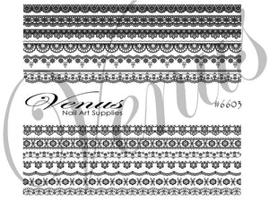 #6603 Elegant Lace (Clear)