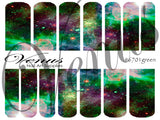 #6701 Galaxy - Green (Clear/White)