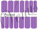 #6702e Purple E (Clear/White)