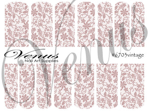 #6703 Floral Lace - Vintage (Clear/White)