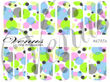 #6707a Geo Circles (Clear/White)