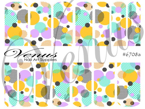 #6708a Geo Circles (Clear/White)