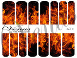 #6711 Flames (Clear/White)