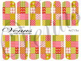 #6713a Floral Fruits - Patchwork (Clear/White)