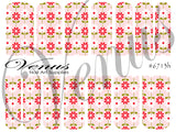 #6713h Floral Fruits - Flowers Pink (Clear/White)