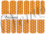 #6713 Floral Fruits SET OF 17 (Clear/White)