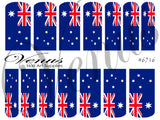 #6716 Australian Flag (Clear/White)