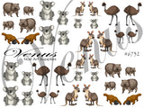 #6732 Australian Animals (Clear)