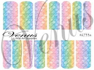 #6733a Scales - Rainbow (Clear/White)