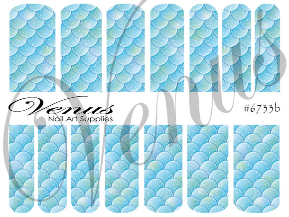 #6733b Scales - Blue (Clear/White)