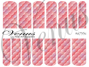 #6733c Scales - Coral (Clear/White)