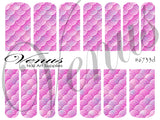 #6733d Scales - Pink (Clear/White)
