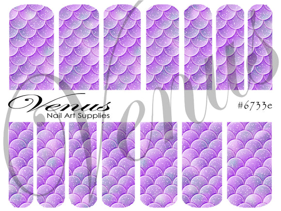#6733e Scales - Purple (Clear/White)