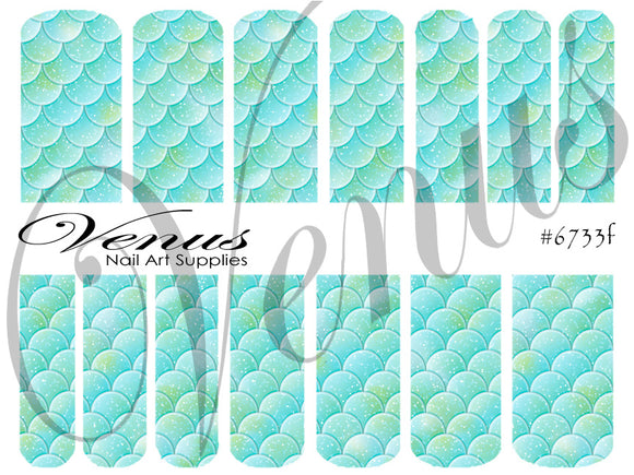 #6733f Scales - Aqua (Clear/White)