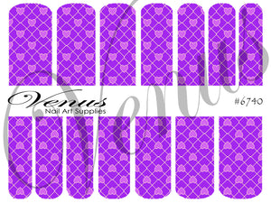 #6740 Cross My Heart - Purple (Clear/White)