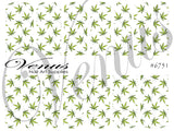 #6751 Marijuana Leaves (Clear/White)