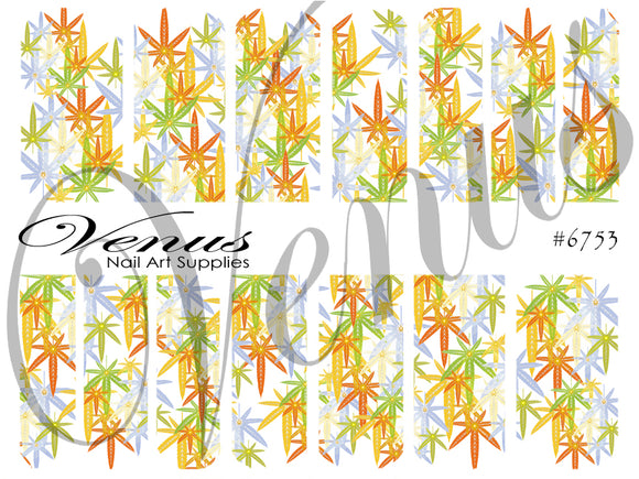 #6753 Colourful Cannabis (Clear/White)