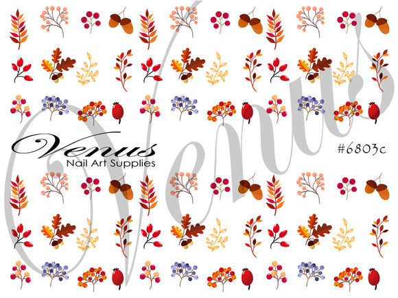#6803c Autumn Leaves C (Clear)