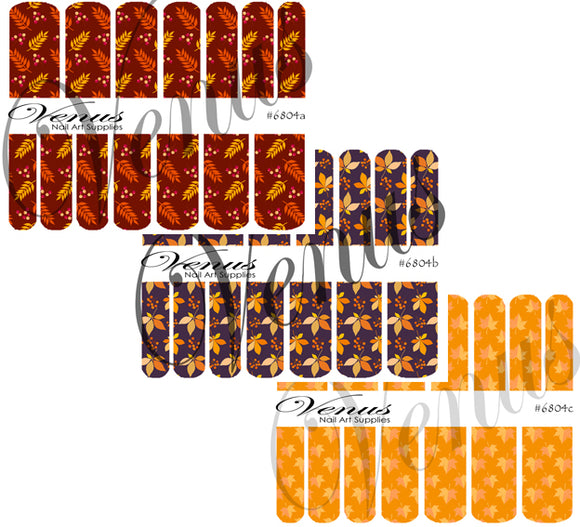 #6804 Autumn In Full Swing - SET OF 3 (Clear/White)