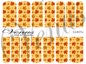 #6805a Autumn Print A (Clear/White)