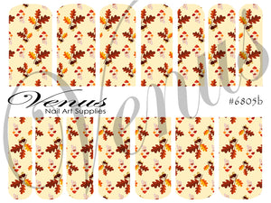 #6805b Autumn Print B (Clear/White)