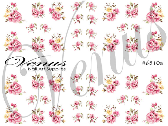 #6810a Roses - Pink (Clear)