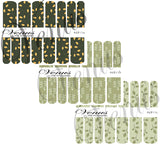 #6811 Sage Floral - SET OF 3 (Clear/White)