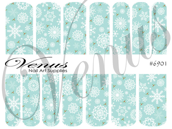 #6901 Snowflakes 01 (Clear/White)