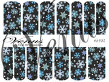 #6902 Snowflakes 02 (Clear/White)
