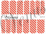 #6910 Christmas Stripes (Clear/White)