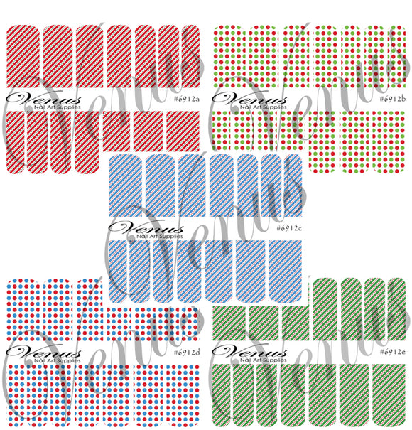 #6912 Christmas 12 - SET OF 5 (Clear/White)