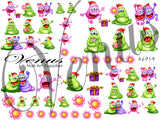 #6914 Xmas Monsters (Clear)