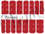 #6917a Snowflakes 17 - Red (Clear/White)