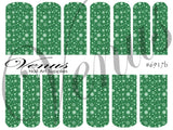 #6917b Snowflakes 17 - Green (Clear/White)