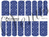#6917c Snowflakes 17 - Blue (Clear/White)
