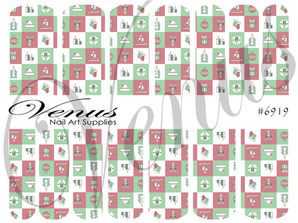 #6919 Xmas Blocks (Clear/White)
