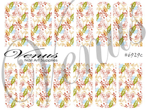 #6929c Christmas Florals (Clear/White)