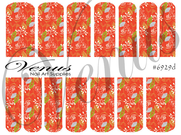 #6929d Christmas Florals (Clear/White)