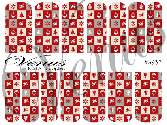 #6933 Christmas Blocks (Clear/White)