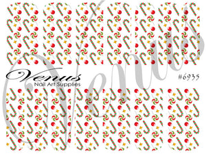 #6935 Xmas Candy (Clear/White)