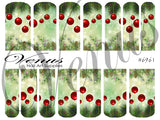 #6961 Bauble Lei - Red/Green (Clear/White)