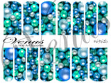 #6962b Baubles - Blue (Clear/White)