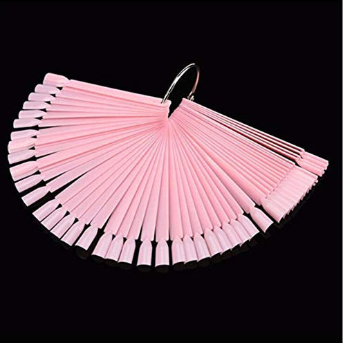 Colour Display Stick - PINK 50pcs with Ring