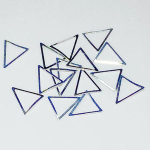 Metallic Frames - Silver TRIANGLES - Large (approx. 8mm x 10mm)
