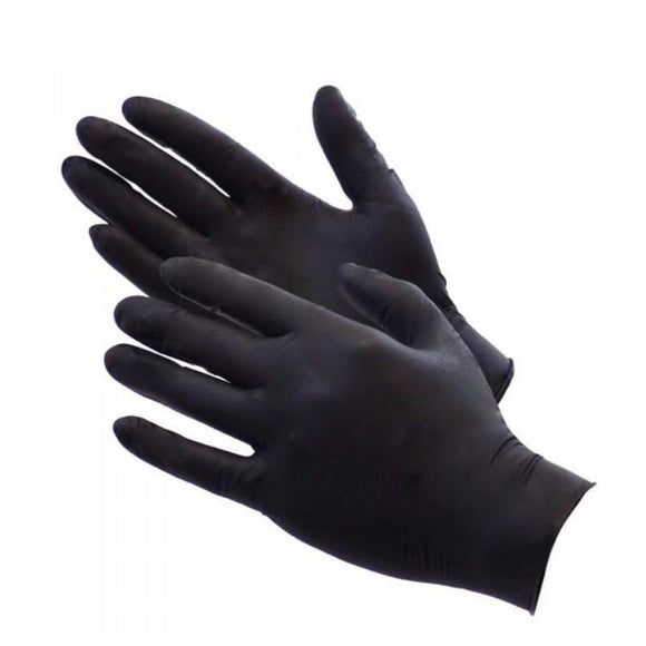 LATEX Gloves - NO POWDER (Black)