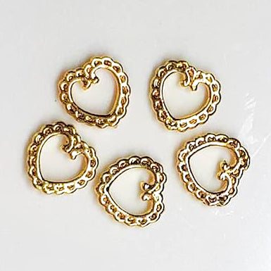 Lace Hearts Gold